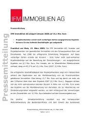 PDF, 85 kb - IFM Immobilien AG