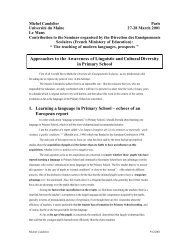 Approaches to the Awareness of Linguistic and Cultural Diversity in ...