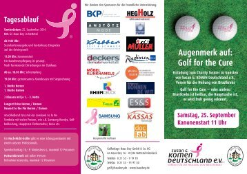 Golf Charity Turnier - Golf for the Cure - Flyer.indd - Golfclub Haus Bey