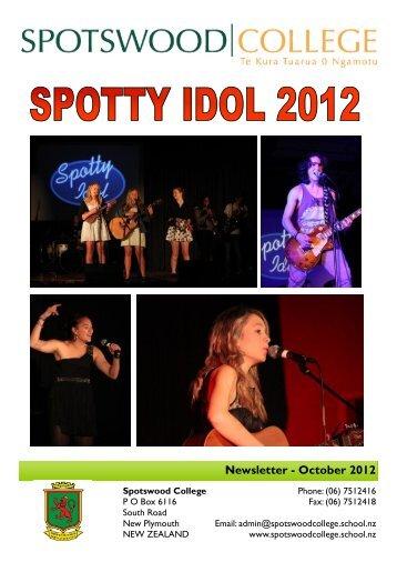 Newsletter - October 2012 - Spotswood College