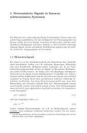 1. Determinierte Signale in linearen zeitinvarianten Systemen