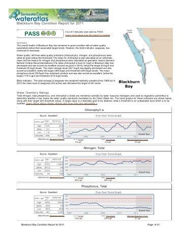 Blackburn Bay Condition Report for 2011 - Sarasota.WaterAtlas.org