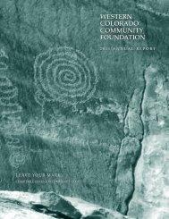 2011 Annual Report - Western Colorado Community Foundation