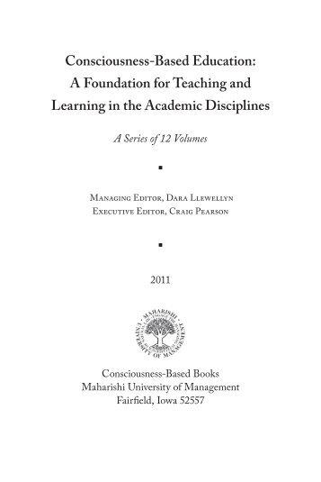 Consciousness-Based Education - Maharishi University of ...