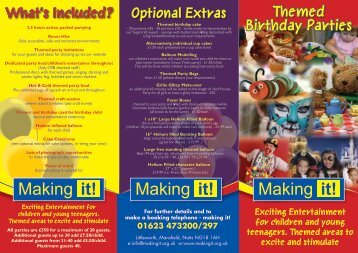 Making it! Making it! Making it! - Things to do in Nottinghamshire