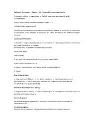 Règlement concours offre personnalisée - La Capitale assurances ...