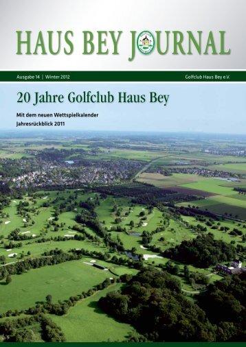 haus bey j urnal - Golfclub Haus Bey