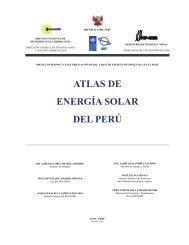 ATLAS DE ENERGÍA SOLAR DEL PERÚ - Biblioteca Verde