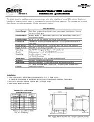 1000-3000 psi Range SPDT Circuit Pack of 10 Gems PS71-50-2MGZ-C-FL18 Series PS71 General Purpose Mini Pressure Switch 1//8 BSPM Steel Fitting 18 Flying Leads