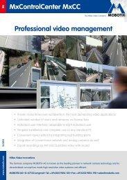 MxControlCenter MxCC Professional video management - Mobotix