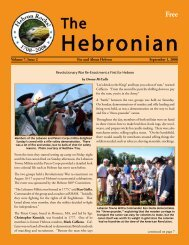 Volume 7, Issue 2 For And About Hebron September 1, 2008 - Gulemo