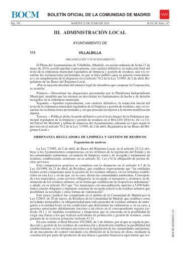 PDF (BOCM-20100622-111 -28 págs -297 Kbs) - Sede Electrónica ...