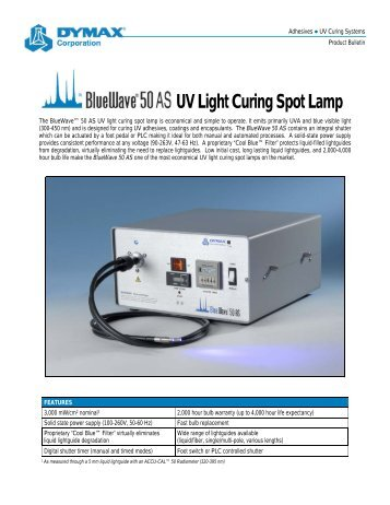 Dymax Bluewave 75 Uv Curing Spot Lamp With Intensity