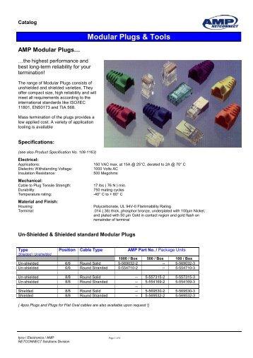 Modular Plug Catalog - YE International