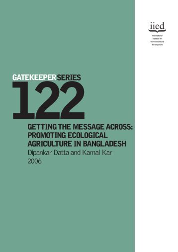 PROMOTING ECOLOGICAL AGRICULTURE IN BANGLADESH ...