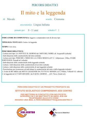 Il mito e la leggenda - Istituto Scolastico Comprensivo Lorenzo Lotto ...