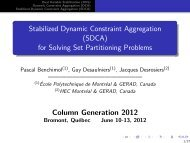 Stabilized Dynamic Constraint Aggregation (SDCA) for ... - gerad