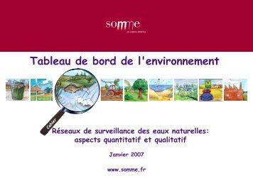 etat qualitatif des eaux souterraines - Agence de l'eau Artois Picardie