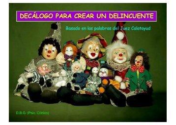 DECÁLOGO PARA CREAR UN DELINCUENTE - Wikiblues.net