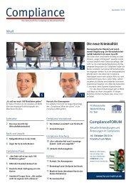 (PDF ) | Ausgabe September 2013 - Compliance