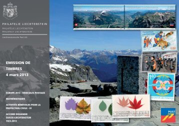 Emission de Timbres 4. mars 2013 (19MB) - Philatelie Liechtenstein