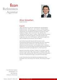 Oliver Geisselhart - Econ Referenten-Agentur