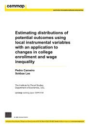 Estimating distributions of potential outcomes using local ... - Cemmap