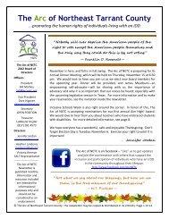 November 2012 DRAFT2 News - The Arc of Northeast Tarrant County
