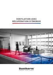 Ventilation aVec récupération d'énergie - Dantherm
