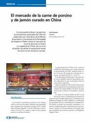 El mercado de la carne de porcino y de jamón curado en China