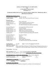 INITIAL ENVIRONMENTAL EXAMINATION OR CATEGORICAL ...
