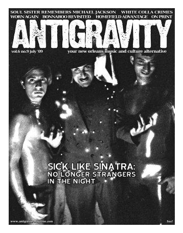 July 2009 (PDF) - Antigravity Magazine