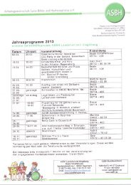 Jahresprogram m 201 - ASBH LV Bayern