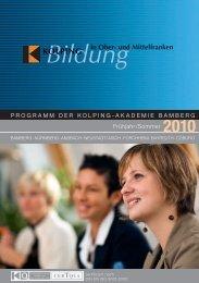Bildung - Kolping Bildung in Ober- und Mittelfranken