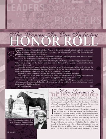Honor Roll 5.09 - American Morgan Horse Association