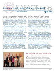 NASACT News, April 2012 - National Association of State Auditors ...