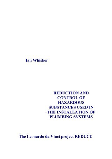 reduction and control of hazardous substances used in the ... - Reduce