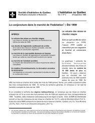 Le volume des mises en chantier stagne - Société d'habitation du ...