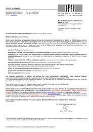 IS-Academia à l'EPFL : données saisies pour les ... - Master | EPFL