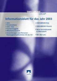 Ausgabe Januar 2003 - swissbroke