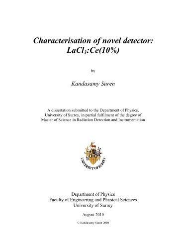 Suren Kandasamy Dissertation.pdf - University of Surrey