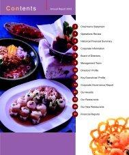 Contents - Tung Lok Restaurants 2000 Ltd