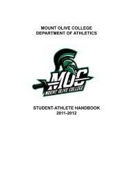 Student Athlete Handbook - Mount Olive College