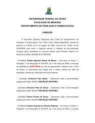 bioquímica médica - Universidade Federal do Ceará