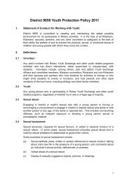 District 9650 Youth Protection Policy 2011.pdf - Rotary District 9650