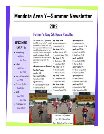 Mendota Area Y—Summer Newsletter