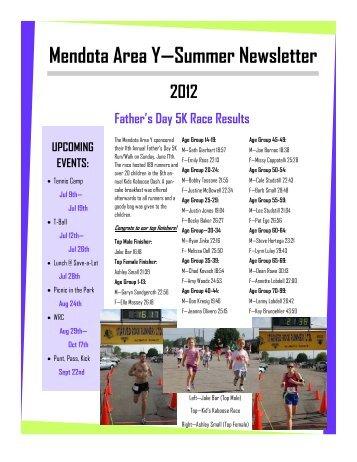 Mendota Area Y—Summer Newsletter