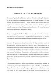 PHILOSOPHY FOR PUBLIC SECTOR REFORM Government's ...