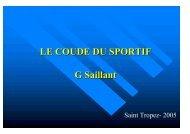 Le coude du sportif - ClubOrtho.fr