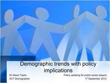 Demographic trends with policy implications [ PDF 457KB]